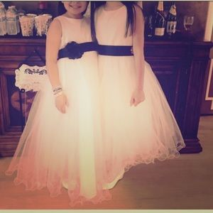 Girls satin and tulle dress